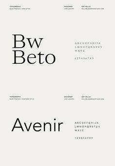 Maite Studio / Brand Identity on Behance Design Typography, Typography Letters, Typography Inspiration, Branding Design, Design Packaging, Hand Lettering, Creative Studio, Sans Serif, Font Combinations