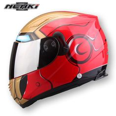 NENKI-IRONMAN-HELMET-CHROME-GOLD-VISOR-SIZE-LARGE-MOTORBIKE-MOTORCYCLE-COOL
