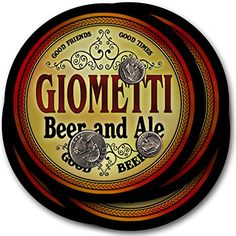 Giometti Beer & Ale - 4 pack Drink Coasters ZuWEE https://www.amazon.com/dp/B00PQTR8AA/ref=cm_sw_r_pi_dp_x_UmJhyb1JGCWKQ