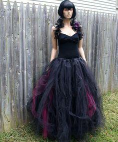 Borgoña y negro Cyber gótica Formal por MTcoffinzUnderground
