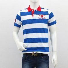 United Colors of Benetton – Blue Red White Striped Polo T-Shirt Polo T Shirts, Benetton, Shopping Sites, Men's Collection, Outlets, Red And White, Polo Ralph Lauren, Break Outs, Polo Shirts