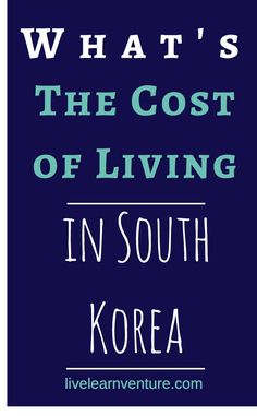 What's the Cost of Living in South Korea? www.travel4life.club