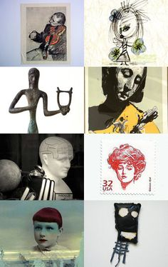 Fascinating Faces by Laura Prill on Etsy--Pinned with TreasuryPin.com