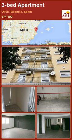3-bed Apartment in Oliva, Valencia, Spain ►€74,100 #PropertyForSaleInSpain