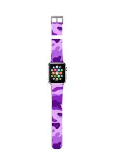 Discover unique and stylish Apple Watch Strap Band for Series 1 & Series Series Series 4 & Series available for both / and / size. Made of high quality leather with stylish finish, designer print. Apple Watch 38, Apple Watch Bands 42mm, Apple Watch Models, Apple Watch Leather Strap, Picture Design, Digital Watch, Iphone Cases, Purple, Movement Watches
