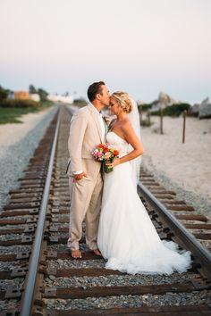 Rincon Beach Club. Our train tracks beach wedding :)