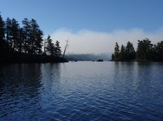 0057 Smoke approaching Portage to Lake Two by Zulu