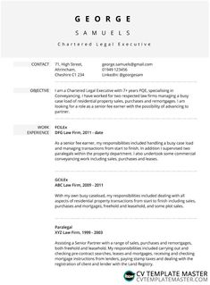 Smart free CV template with soft grey dividers - CV Template Master
