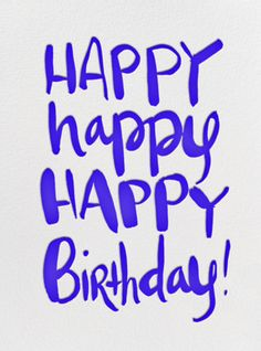 Paperless Post, Digital Birthday Cards - I like how the typographer used the brush to crate a contrast between thick and thin strokes. I also like the use of different styles on each line