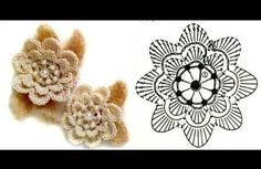 Crochet flower with pattern ( if you know how to read them :)). #crochet flower