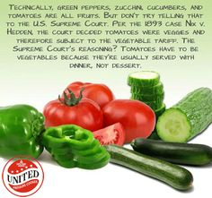 Some vegetable fact