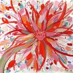 whimsical flower canvas painting