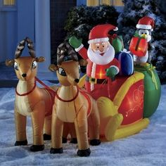 Inflatable Santa and Sleigh | Seventh Avenue