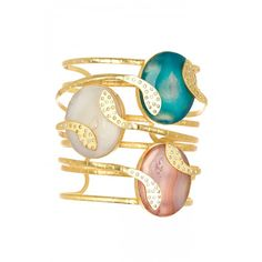 #Gold #Blue #White #Pink #ResortJewelry #Accessorize #Cuff