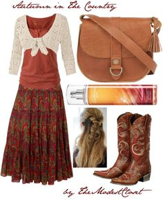 """Autumn in the Country - Apostolic Approved"" by themodestcloset ❤ liked on Polyvore"