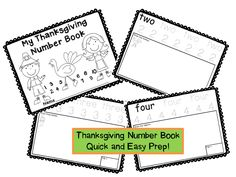 Thanksgiving math lessons in a snap!  This 11 page number book allows your students to practice writing numbers 1-10, writing number words, making sets and tallying numbers!  Complete a few pages a day and it will last all week!  Great for those last few days before Thanksgiving break!  $
