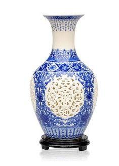 Aliexpress.com: IBNUO CERAMIC DECORATION CO. LTD.より信頼できる 磁器の灰皿 サプライヤから磁器中空アウト花瓶を購入します