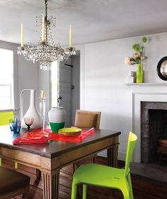 love the pop of color!   #Home #Decor #PopSugar
