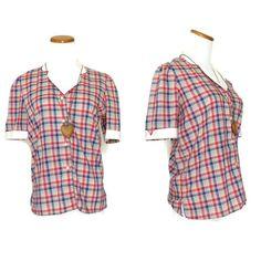 Levis Shirt / Plaid Blouse / Levis Top / 70s Top / Vintage Levis Shirt / Plaid Button Up / 70s Blouse / 70s Shirt by GoodLuxeVintage on Etsy