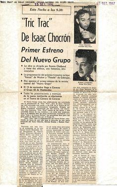 Obra de Isaac Chocrón. Publicado el 15 de septiembre de 1967.