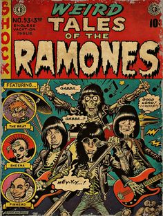 Weird tales of the RAMONES by MiaTshirtGarage on Etsy