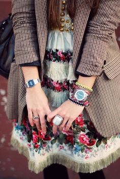 Inspiration Look - LoLoBu. Eclectic cute. Mixed patterns.