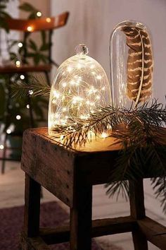 Fairy lights, Great buy, Battery operated led lights with the smallest battery pack on the market for a strand of suspended stars✨ Starry lights✨ Gorgeous lights on a copper coated silver discreet wir Christmas Trends, Noel Christmas, Christmas Inspiration, Christmas Lights, Christmas Crafts, Christmas Decorations, Christmas Crunch, Holiday Decorating, Decorating Ideas