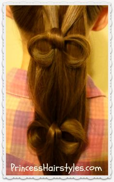 Cascading bows ponytail tutorial