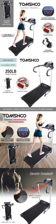 Treadmills 15280: Tomshoo 800W Motorized Folding Electric Treadmill Jogging Machine Home Gym L9n3 BUY IT NOW ONLY: $198.37