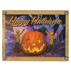 Happy Halloween 4 Rectangular Cheese Board