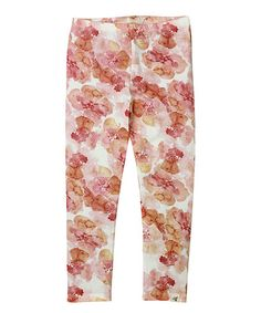 Another great find on #zulily! Poppy Floral Organic Leggings - Toddler & Girls #zulilyfinds
