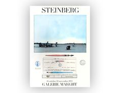 "Saul Steinberg poster design, 1973. Galerie Maeght ""18 Octobre / 15 Novembre 1973"" by NewDocuments on Etsy https://www.etsy.com/listing/84228463/saul-steinberg-poster-design-1973"