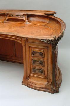 Design Art Nouveau, Art Nouveau Interior, Art Nouveau Furniture, Unique Furniture, Vintage Furniture, Furniture Decor, Art Bauhaus, Art Deco Pictures, Architecture Art Nouveau