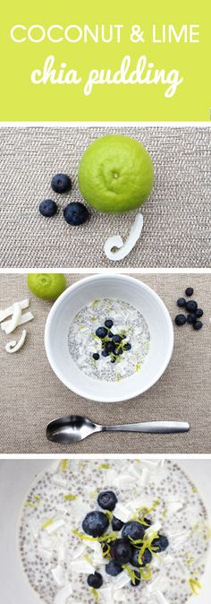 Coconut and lime chia pudding recipe