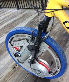 Having just written about some Boston-area bike startups rethinking what the bike can be, I was excited to get a first look at a new electric wheel from GeoOrbital, a Cambridge startup. The company's premise is that millions of people don't ride their bikes very much, but they might if they could install an affordable accessory — like GeoOrbital's sub-$500 wheel — to give them extra range and keep sweat stains in check.