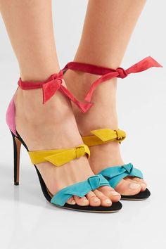 Alexandre Birman - Lolita Bow-embellished Suede Sandals - Fuchsia - IT39.5