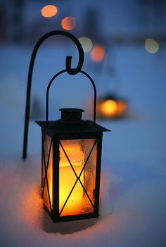 lights on a winter night