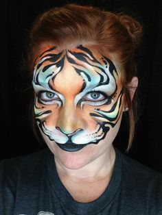 Jocelyn as a tiger Girl Face Painting, Face Painting Designs, Painting For Kids, Body Painting, Face Paintings, Kitty Face Paint, Face Paint Makeup, Cat Face, Tiger Face Paints