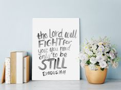Bible+Verse+Wall+Art+Print+with+The+Lord+will+by+HartAndWallDesign