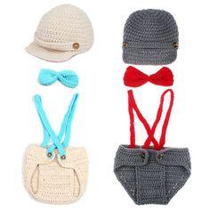 Little Gentleman Knit Suspender Set