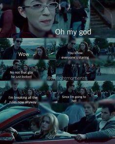 Funniest scene in the movie Twilight Movie Scenes, Twilight Poster, Twilight Jokes, Twilight Saga Series, Twilight Edward, Twilight Book, Twilight Pictures, Twilight Videos, Robert Pattinson Twilight