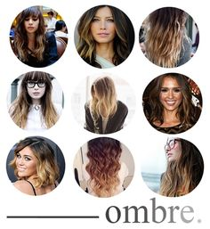 Gosh I wish I had dark hair so I could pull this off. Ombre look >>>>