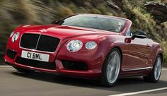 2014 Bentley Continental GT V8 S Convertible: 4.0 Liter V8 Twin Turbo with 521 Horsepower. 0 to 60 mph in 4.5 seconds. Top Speed of 191 mph.