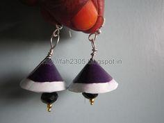 Handmade Jewelry - Paper Cone Jhumka (2)