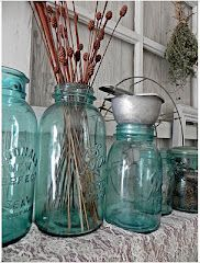 A Southern Belle with Northern Roots: Vignette a Day, Vintage Jars and Graters