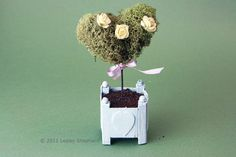 Make Miniature Heart-shaped Moss or Ivy Topiaries
