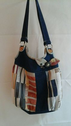 Denim Handbag by pagehoprcreations on Etsy