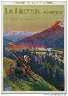 Vintage Railway Travel Poster - Le Lioran - Auvergne - France.