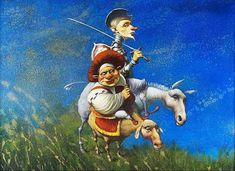 Pinzellades al món: Ilustraciones de Don Quijote: homenaje a Miguel de Cervantes en el IV Centenario de su muerte / Il·lustracions d'En Quixot