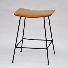 Clement Meadmore; Enameled Metal Stool for Meadmore Originals, 1950s.